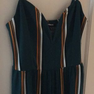 Express jumpsuit- green with stripes!